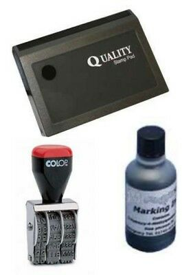 Egg Dater Kit Includes 1 x 4mm  Rubber Date Stamp and 1 x inked Egg Pad BLACK