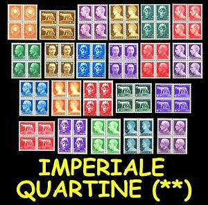 ITALIA-ITALY-1929-Serie-Imperiale-MNH-in-quartine-Italian-Reign