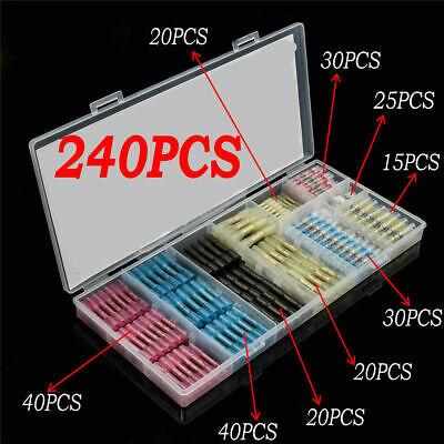 100 Pcs Mixed Heat Shrink Wire Connectors Electrical Spade Terminals Crimp Kit
