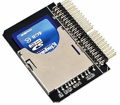 SD SDHC MMC Card to 2.5''44 Pin IDE MALE ADAPTER CONVERTER HIGH QUALITY UK