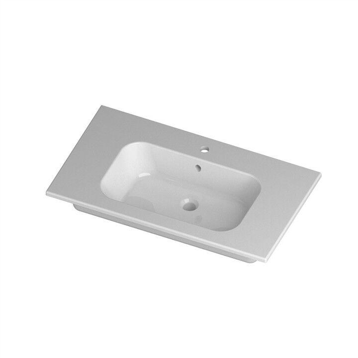 Lavandino Lavabo Consolle Design Qubo Square in Ceramica bianco 91cm