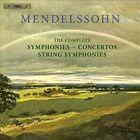Mendelssohn: The Complete Symphonies, Concertos, String Symphonies (CD, Sep-2012, BIS (Sweden))