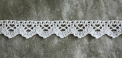 "2 1//4/"" wide Ship discount! 2 yds Imported Vintage Beige Crocheted Cluny Lace"