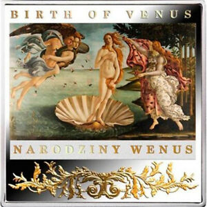 2014 Birth of Venus Proof Silver Coin Niue Masterpieces of the Renaissance