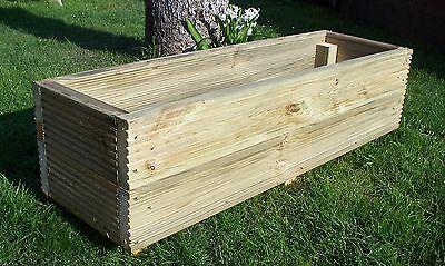 Large Decking Planters, wood garden planters Free P&P Wood trough Handmade