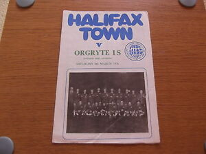 RARE 06031976  Halifax Town v Orgryte IS  Friendly - <span itemprop=availableAtOrFrom>Rugby, United Kingdom</span> - RARE 06031976  Halifax Town v Orgryte IS  Friendly - Rugby, United Kingdom