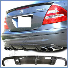 For 03-06 Benz W211 E55 AMG Sport Package Bumper CFRP Carbon Rear Lower Diffuser