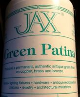 4 Oz Jax Green Patina - Permanent Antique Green Finish On Copper, Brass & Bronze
