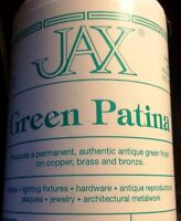 4 Oz Jax Green Patina - Permanent Antique Green Finish On Copper, Brass & Bronze