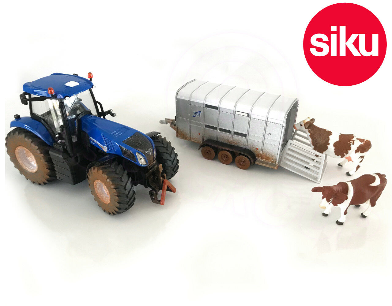 Siku 8607 fangoso New Holland T8.390 Tractor + Ifor Williams Remolque 1 32 DIE-CAST