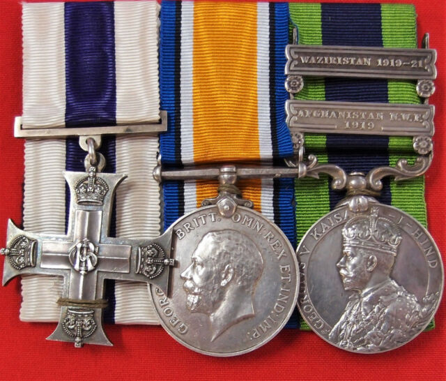 VINTAGE & RARE WW1 BRITISH ARMY MILITARY CROSS MEDAL GROUP WAZIRISTAN 1921 INDIA