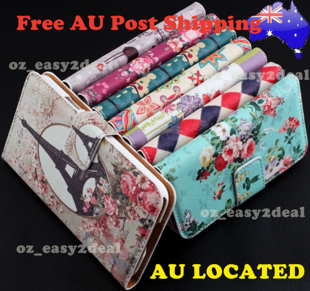 Luxury Floral Leather Purse Case Cover Wallet For Samsung iPhone 4 5 5c 6 6 plus