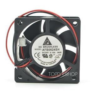 DELTA-AFB0624SH-Large-air-volume-cooling-fan-DC24V-0-18A-4-32W-60X60X25MM-2pin
