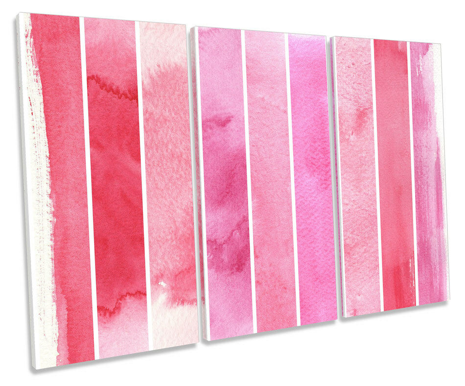 rosa a strisce astratto tela tela tela Wall Art Treble BOX Frame stampa 5f8cb2