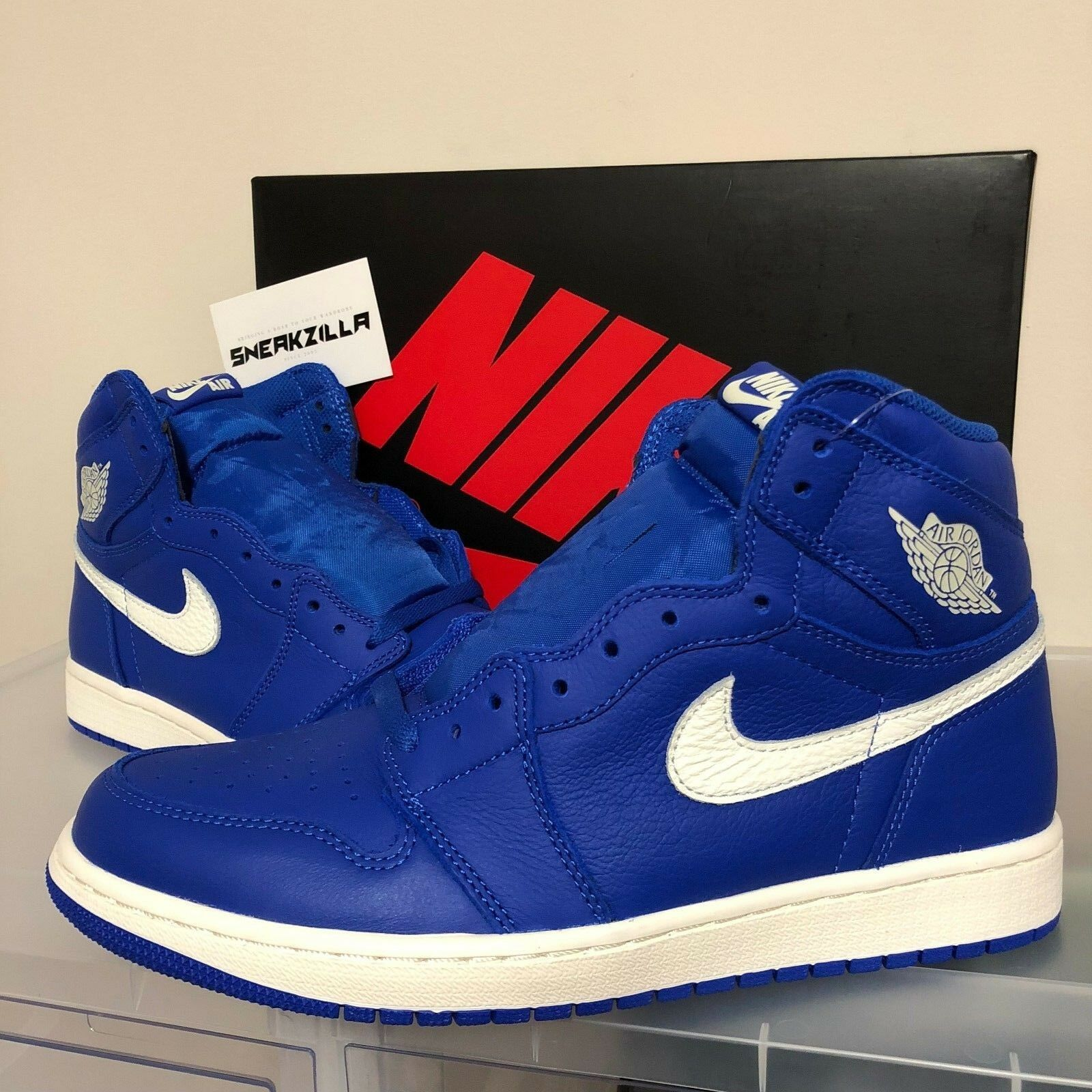 new style 6cece 2b600 ... france nike air jordan retro azul i 1 alta og hyper azul retro real  vela lote