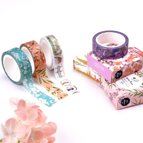 Cute Gift Floral Washi Sticker Decor Roll Paper Masking Adhesive Tape Crafts DIY