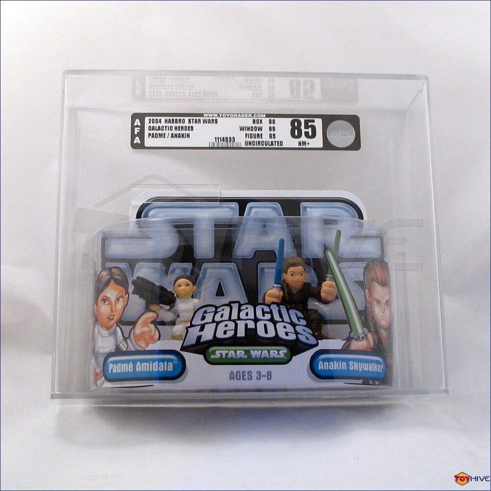 Star Wars Galactic Heroes Princess Leia and Han Solo AFA 90