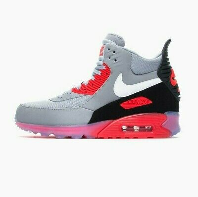 Details about Nike Men Air Max 90 Sneakerboot Ice Shoes 684722 006 SIZE 8 12 Grey Pink