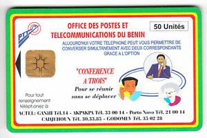 AFRIQUE TELECARTE - PHONECARD .. BENIN 50U CONFERENCE A 3 10N°N B-G CHIP-PUCE RAOnI2uE-09163359-209641248