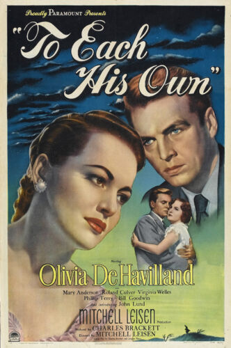 To each his own Olivia DeHavilland movie poster #3