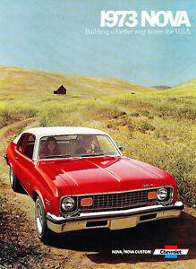 CHEVROLET NOVA Range 1974 USA Mkt opuscolo catalogo di vendita-COUPE BERLINA CUSTOM SS