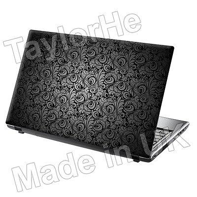 "17"" Laptop Skin Sticker Decal Vintage Grey Paisley 217"