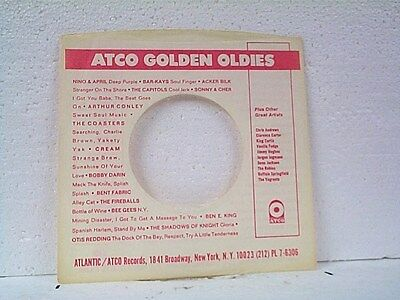 Sensible 2-atco Golden Oldies Record Company 45's Sleeves Lot #983-d Skillful Manufacture Music