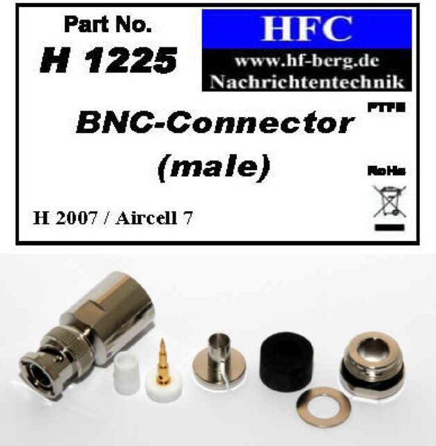 1 Stück BNC-Stecker für H 2007 / Aircell 7 / Highflexx 7 Koaxkabel 50 Ω (H1225)