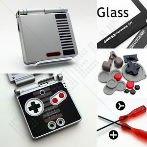 New-Classic-NES-Edition-Nintendo-Game-Boy-Advance-SP-Case-Shell-Housing-amp-Glass