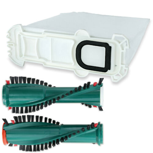 6-12 Sacchetto per aspirapolvere tessuto e spazzole si adatta per VORWERK FOLLETTO vk135 EB 351