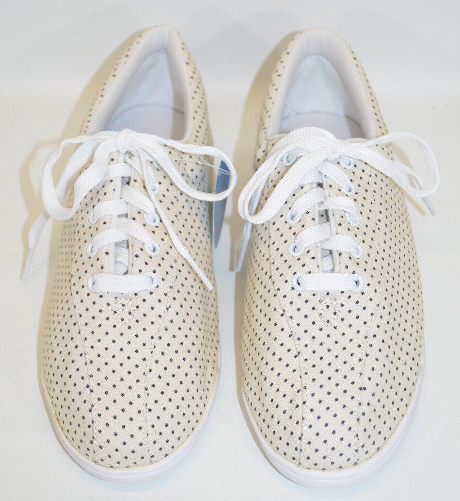 Easy Spirit Level 1 shoes AP1 Beige w Black Dots Athletic Walking Women's 9W