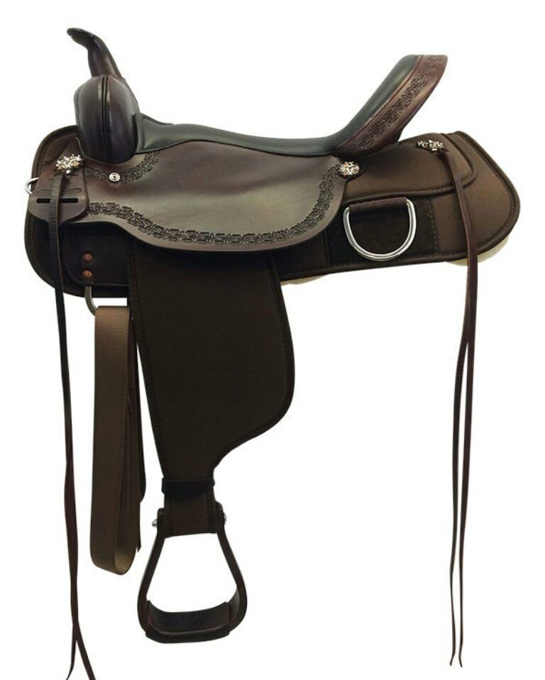 "High Horse Circle Y 15 or 16"" Magnolia Cordura Trail Saddle Brown Wide NEW"