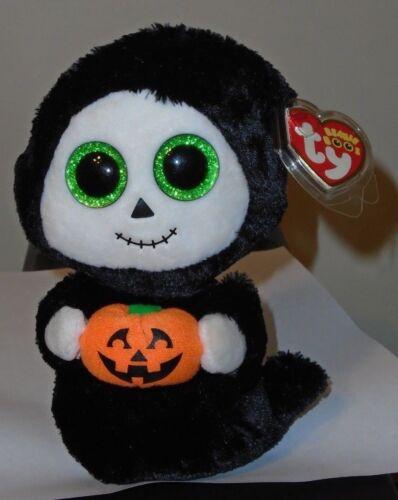 6 Inch NEW MWMT Ty Beanie Boos ~ TREATS the Halloween Ghost w// Pumpkin
