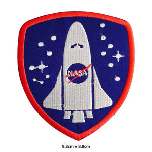 NASA-USA-Space-Ship-Embroidered-Patch-Iron-on-Sew-On-Badge-For-Clothes-Bags-etc