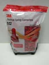 50 EACH 3M ELECTRICAL SPRING CONNECTORS 312 Min 2 # 18 to Max 3 # 12