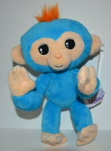 "Fingerlings Monkey Bright Blue Plush stuffed 9/"" posable toy doll NEW"