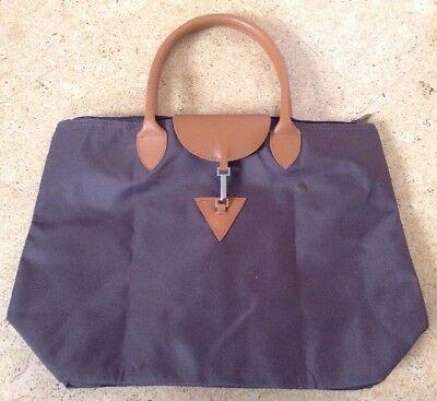 Handtasche Shopper Braun kompakt Nylon