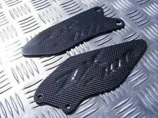 Carbon Fibre Kawasaki ZX10 ZX10R 06-10 Kick Plates Footpeg Heel Guard ZX-10R