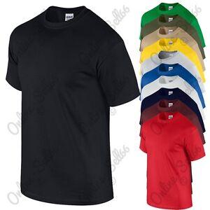 3-Pack-Mens-Gildan-Plain-Ultra-HEAVY-Tshirt-All-sizes-Top-Work-T-Shirt-Wear