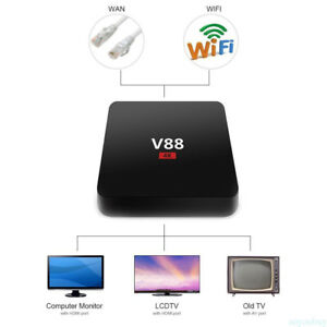 V88 Android 6.0 TV BOX 4K RK3229 Quad Core 8 GB HD 1080P WIFI Entrada