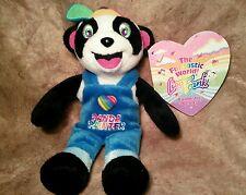 "Lisa Frank rainbow Panda bear Painter Plush stuffed animal beanie doll Toy 8"" u9"