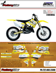 2001 2017 suzuki rm 125 250 impact motocross graphics dirt bike rh ebay ie 2001 suzuki rm125 service manual 2002 Suzuki RM 125 Manual