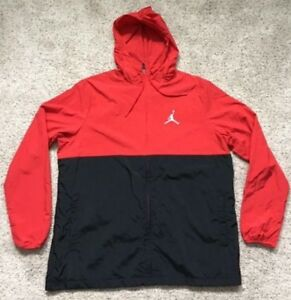 1b7674d36bad Details about  110 New Air Jordan Men s Nike Jacket Red Black White Zip  Hooded Jumpman L XL!