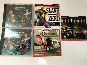 Lot of 5 Windows PC CD-ROM Software Games- Drakan- Nocturne- Slave Zero