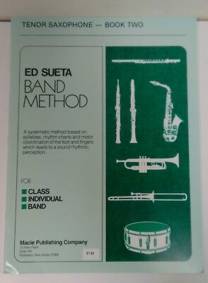 Instruction Books, Cds & Video Brave Ed Sueta Band Method Tenor Saxophone Book 2 Esbmts2 Spare No Cost At Any Cost Brass