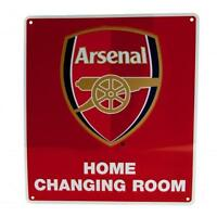 Arsenal FC Official Crested Metal Home Changing Room Sign