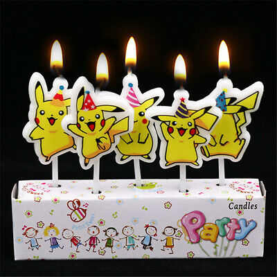 Admirable Pokemon Pikachu Birthday Cake Candle Candles Topper Party Decor Personalised Birthday Cards Paralily Jamesorg