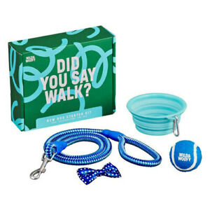 Wild-amp-Woofy-Dog-Gift-Set-Collapsible-Bowl-Tennis-Ball-Bow-Tie-Dog-Lead