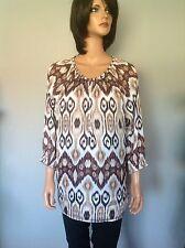 Chico's Blouse Tunic Designer Fashion 2 Hip Stylish Women Clothing L