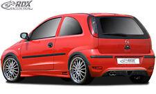 RDX Heckansatz OPEL Corsa C Facelift Heck Ansatz Schürze Diffusor Hinten